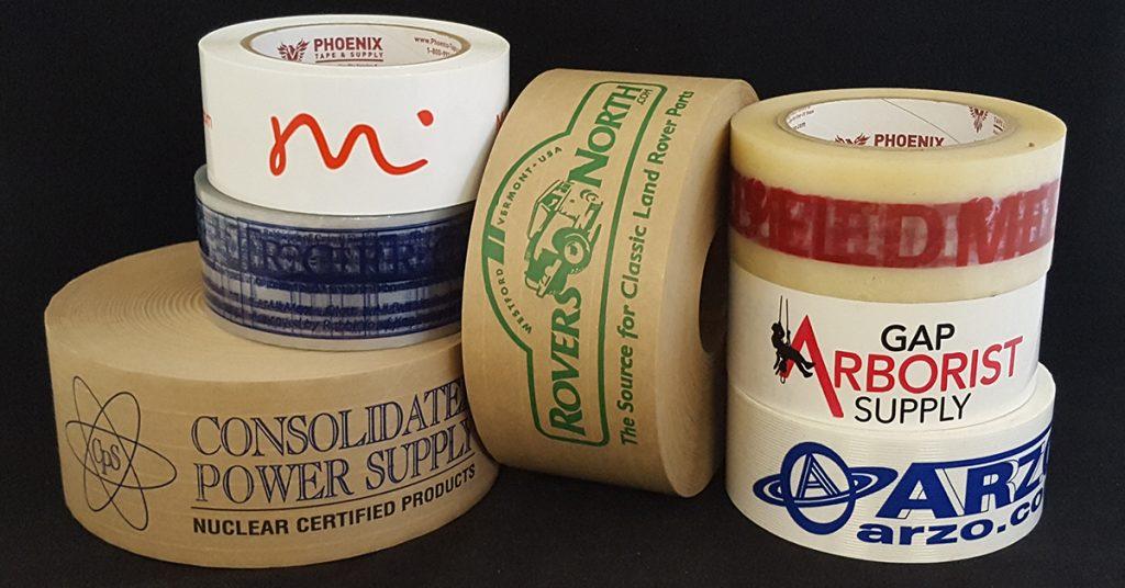 Stack of branded tape