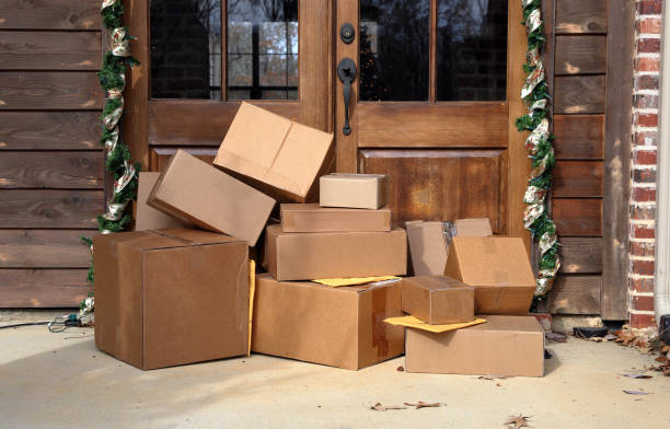 Packages delivered during the holiday season.